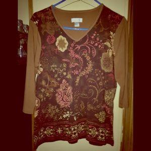Ladies Christopher & Banks blouse sz L